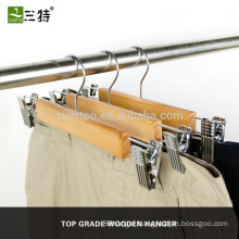 Fine quality wooden clip hangers for pant