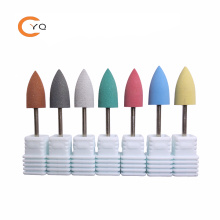 7pes/set Silicone polisher grinders cutter nail drill bits for electric manicure machine to smoothing and initial polishing