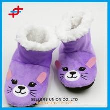 Вышивка Смазливая Animal Kids Крытый обувь для зимы зимой