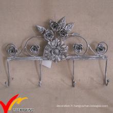 Boucles d'oreillers en métal moulés en forme de fleur