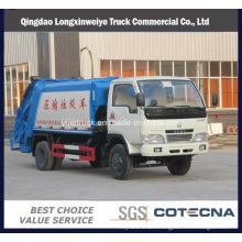 6 Wheeler Dongfeng 6-10cbm Compressed Garbage Truck