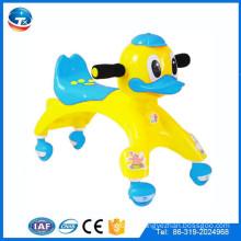 plastic baby swing car kids toys on sale/cheap PU wheels plastic baby walkers