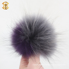 Genuine Top Quality Custom Beanie Wool Hat with Raccoon Fur Ball Pom poms Wool Hat