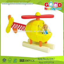 2015 juguetes de madera del mini sistema, nuevo diseño del artículo Juguetes del plano del modelo del helicóptero