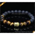 Metal liga encantos pulseiras Beads com jóia de pedra (CB0105)