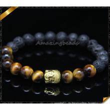 Metall Alloy Charms Perlen Armbänder mit Stein Schmuck (CB0105)
