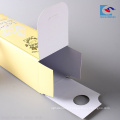 Custom yellow cosmetic lipstick paper packaging box