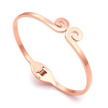 Top Quality Stainless Steel Bracelet Women Bangle Rose Gold Plating Bangle