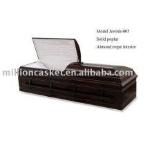 ataúd de cremación de judíos álamo sólida