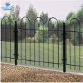 bow top hoop top wrought iron railing fence