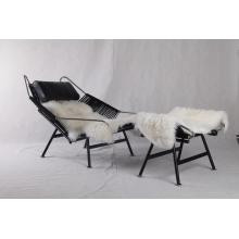 Negro PP225 Hans Wegner Flag Halyard Chair Replica