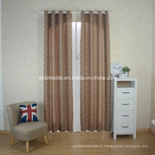 European Prefer Linen Like Jacquard Window Curtain