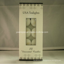 10 Pieces USA Unscented Tealight Candles