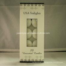 10 pedaços de velas Tealight unscented EUA