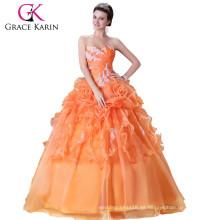Grace Karin nuevo estilo de la princesa especial sin tirantes vestido Quinceanera cariño CL2518
