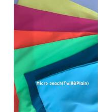 100% Polyester Micropeach Twill et Uni
