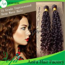 Extension de cheveux humains non transformés