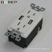 15A 125V Tamper resistant GFCI socket usb charger outlet