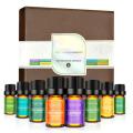 Ensemble d'huiles essentielles 8x10ml, qualité thérapeutique 100% pure