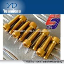 anodised aluminum hex cap screws