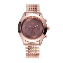 Reloj de pulsera para hombre Rose Gold Alloy para prenda impermeable