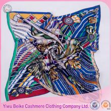 2017 Twill logo printed new arrival silk scarf custom