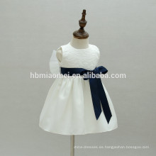 Bautismo simple Vestido de bebé Vestido de encaje blanco Primera comunión Niñas Bautizo vestidos de bebé niña