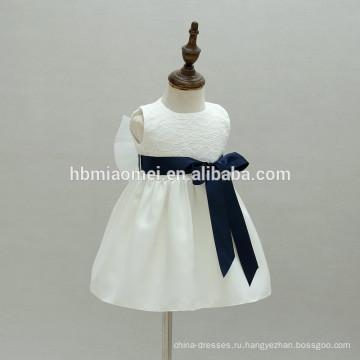 Простое Крещение младенца одежда платье белого кружева первое причастие детские девушки крещение платья для девочки
