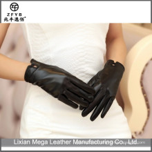 2016 guantes de cuero del cordero de la mano del vestido de la manera