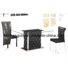 Высокое качество роскошный современный дизайн кожа обеденный стол