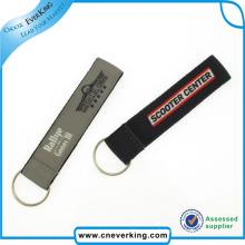 Porte-clés en gros de broderie de lanière en nylon de qualité