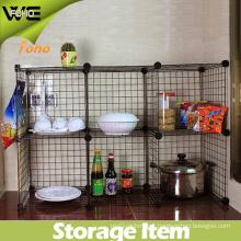 Easy Assembled DIY Storage Display Metal Kitchen Rack