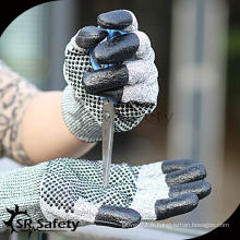 SRSAFETY 13G Gant de nitrile résistant aux coupures / Nitrile Dots On Palm Gloves