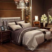 Luxus-High-End-Poly-Baumwolle Jacquard & Stickerei Damast Bettwäsche gesetzt Bettwäsche