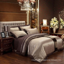 Luxury high end poly-cotton Jacquard & embroidery damask bedding set bed linen