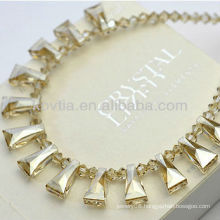 Luxurious yellow Austrian original crystal necklace wholesale