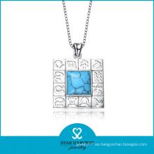 Colgante de plata del collar de la joyería de la turquesa de la manera (SH-0109P)
