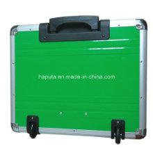 Rollkoffer aus Aluminium mit integriertem Trolley-System (HP-3207)