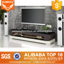 2017 new model living room furniture led light tv stand