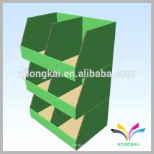 3 camadas verde colorido novo design prateleira de papelão para exibição de revistas de livros