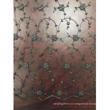 Spray Design Mesh Embroider Fabric