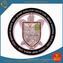 Kundenspezifische 2D hohle medizinische Gesundheits-Andenken-Metallmünzen (LN-082)