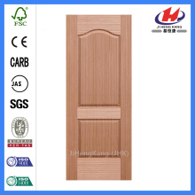 JHK-002 EV-Sapele door skin round top panel 2panel beautiful classical