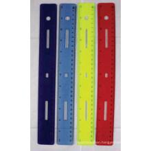 JML 12 IN Plastic Ruler Soft Touch Ruler