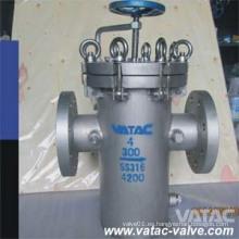 Vatac Acero fundido Wcb / Lcb / Wc9 / CF8 / CF8m / Ss304 / Ss316 Colador de la cesta