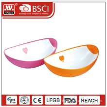 Durable plastic round multi size soup mixing fish fruit sugar baby bowl