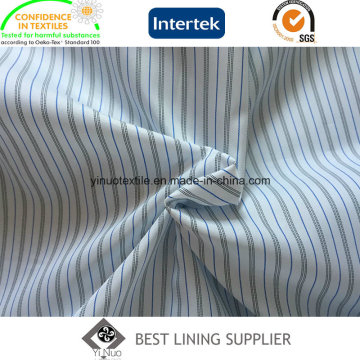 Men′s Suit Long Sleeve Lining Yarn Dyed Striped Polyester Lining