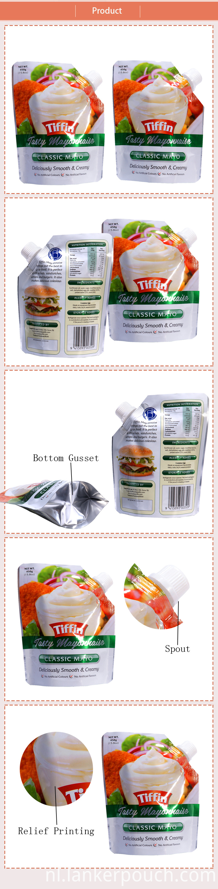 Bag Food Spout Pouch Fruit Salad Packaging