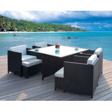 Ay-S2025-2 Costco Outdoor Rattan Furniture Sectional Dining Set