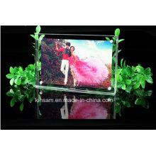 Cadre photo en cristal de vente chaude pour le cadeau